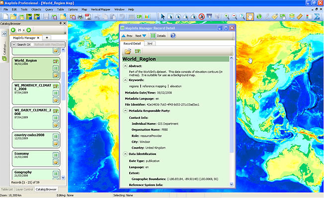 MapInfo Manager Image