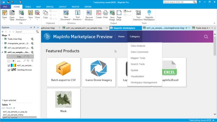 MapInfo Marketplace preview image